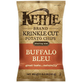 Kettle Brand Krinkle Cut Buffalo Bleu Potato Chips 8.5 Oz Bag (Pack of 12)
