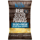 Kettle Brand Sea Salt + Vinegar Real Sliced Potatoes 4 Oz Bag (Pack of 15)