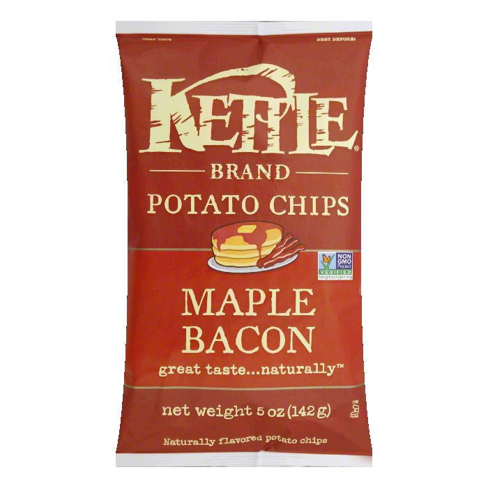 Kettle Foods Bacon Maple Chip, 5 OZ (Pack of 15)