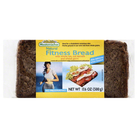 Mestemacher Natural Fitness Bread, 17.6 Oz (Pack of 12)