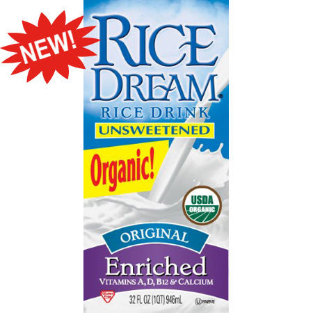 Dream Original Enriched Unsweetened Original, 32 FO (Pack of 12)