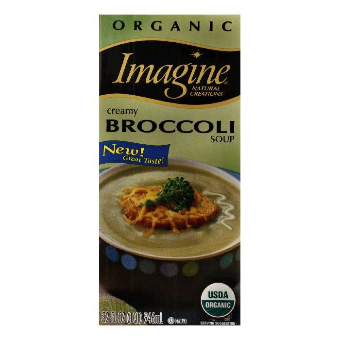 Imagine Organic Cream of Broccoli Soup, 32 OZ (Pack of 12)