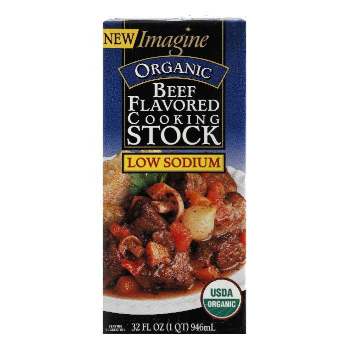 Imagine Beef Flavor Stock, 32 OZ (Pack of 12)