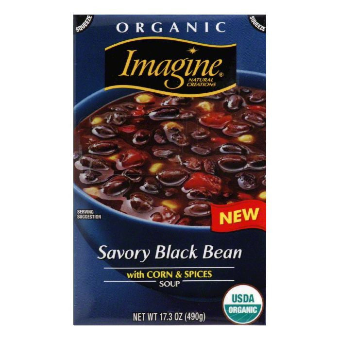 Imagine Savory Black Bean Soup, 17.3 Oz (Pack of 12)
