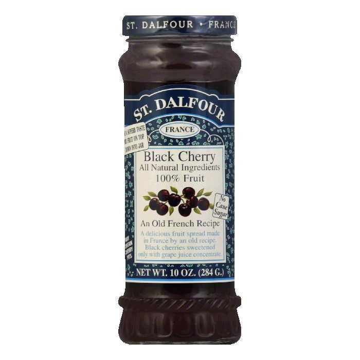 St. Dalfour Black Cherry Conserves, 10 OZ (Pack of 6)