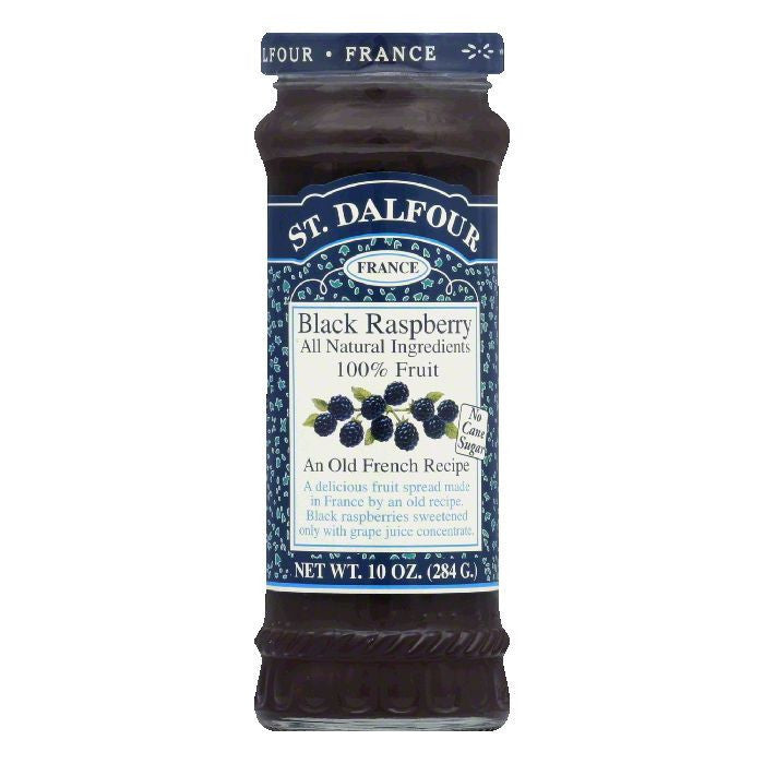 St. Dalfour Conserve Black Raspberry, 10 OZ (Pack of 6)