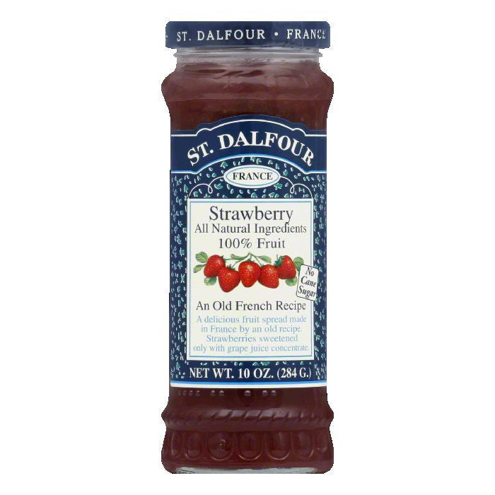 St. Dalfour Strawberry Conserves, 10 OZ (Pack of 6)
