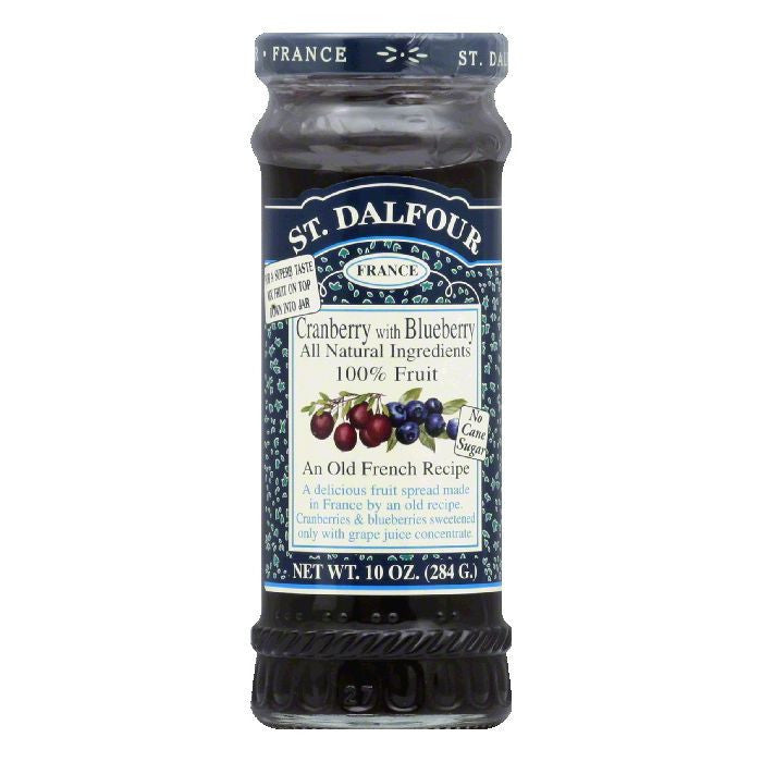 St. Dalfour Conserve Cranberry with Blueberry, 10 OZ (Pack of 6)