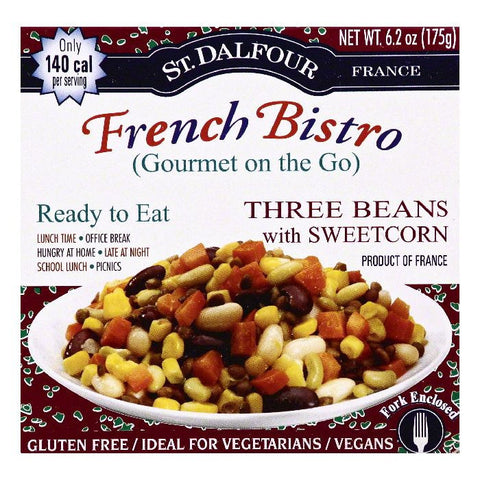 St Dalfour Three Beans with Sweetcorn, 6.2 OZ (Pack of 6)