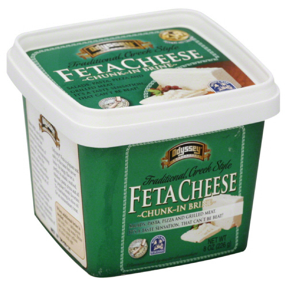 Odyssey Feta Traditional Greek Style Cheese, 8 Oz (Pack of 12)
