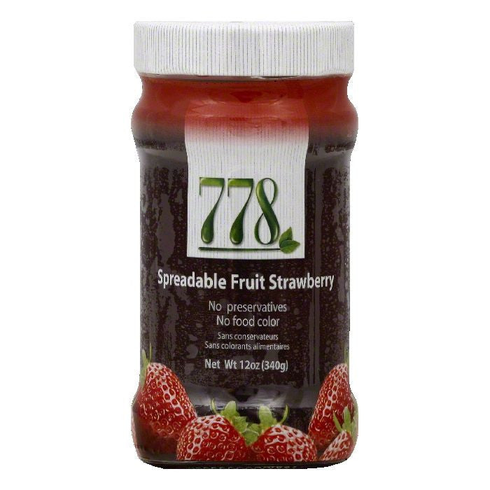 778 Strawberry Spreadable Fruit, 12 OZ (Pack of 12)