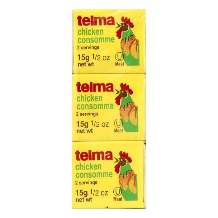 Telma Chicken Cubes Consomme, 3 ea (Pack of 12)