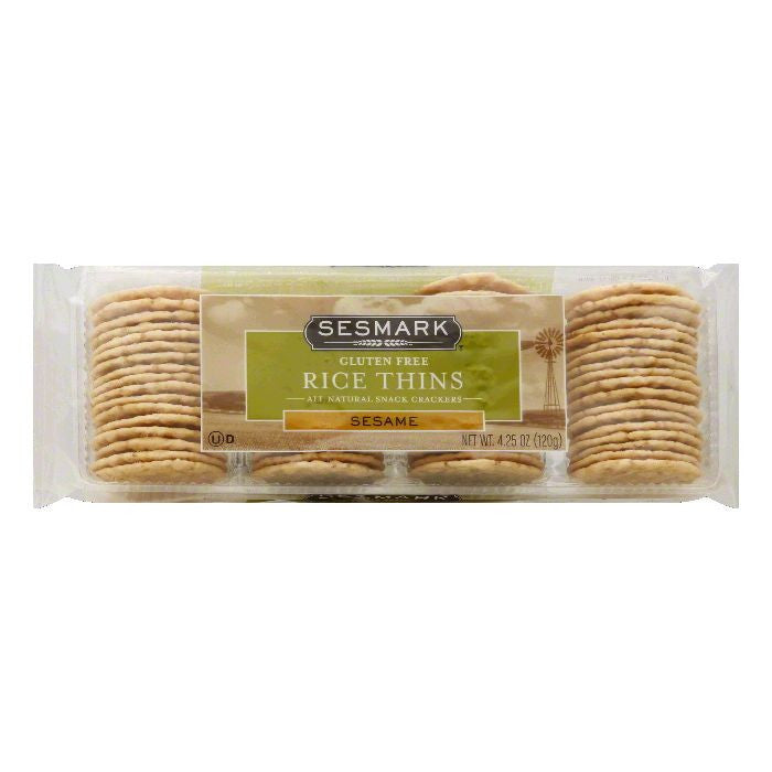 Sesmark Rice Thins, Sesame, 4.25 Oz (Pack of 12)