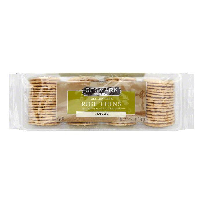 Sesmark Rice Thins, Teriyaki, 4.25 Oz (Pack of 12)