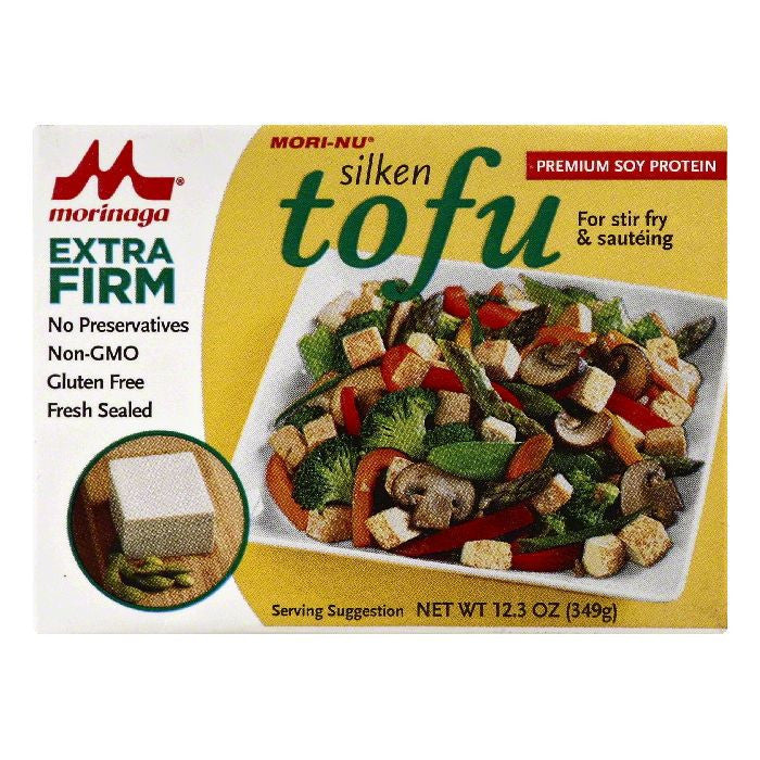 Mori Nu Extra Firm Tofu, 12.3 OZ (Pack of 12)
