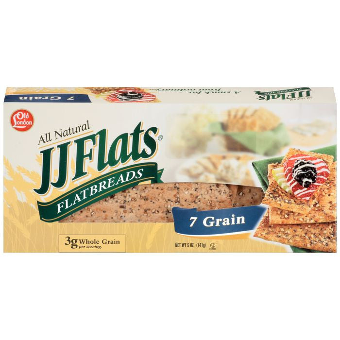 Old London JJ Flats Flatbreads 7 Grain 5 Oz  (Pack of 12)