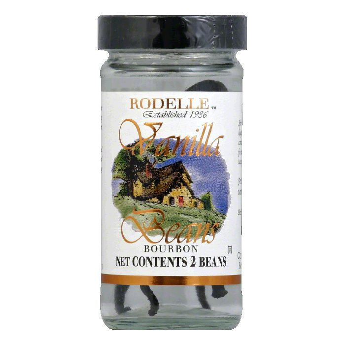 Rodelle Vanilla Beans Whole, 2 PC (Pack of 12)