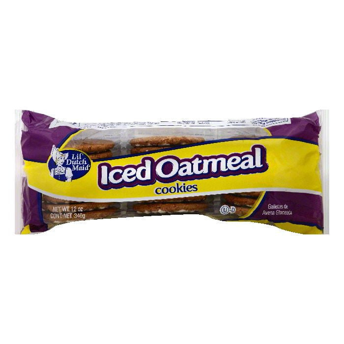 Lil Dutch Maid Iced Oatmeal Cookies, 12 OZ (Pack of 12)