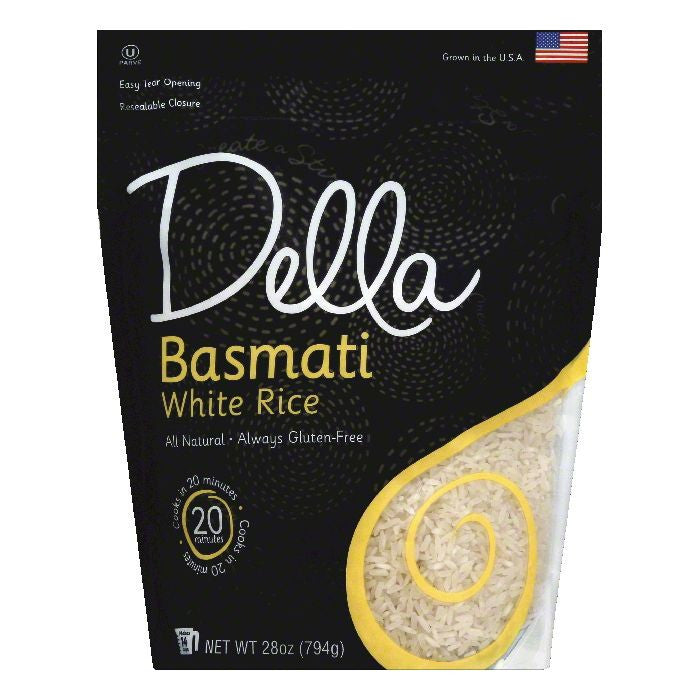 Della Basmati White Rice, 28 OZ (Pack of 6)
