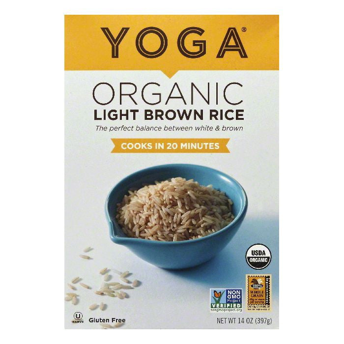 Yoga Organic Light Brown Rice, 14 OZ (Pack of 6)