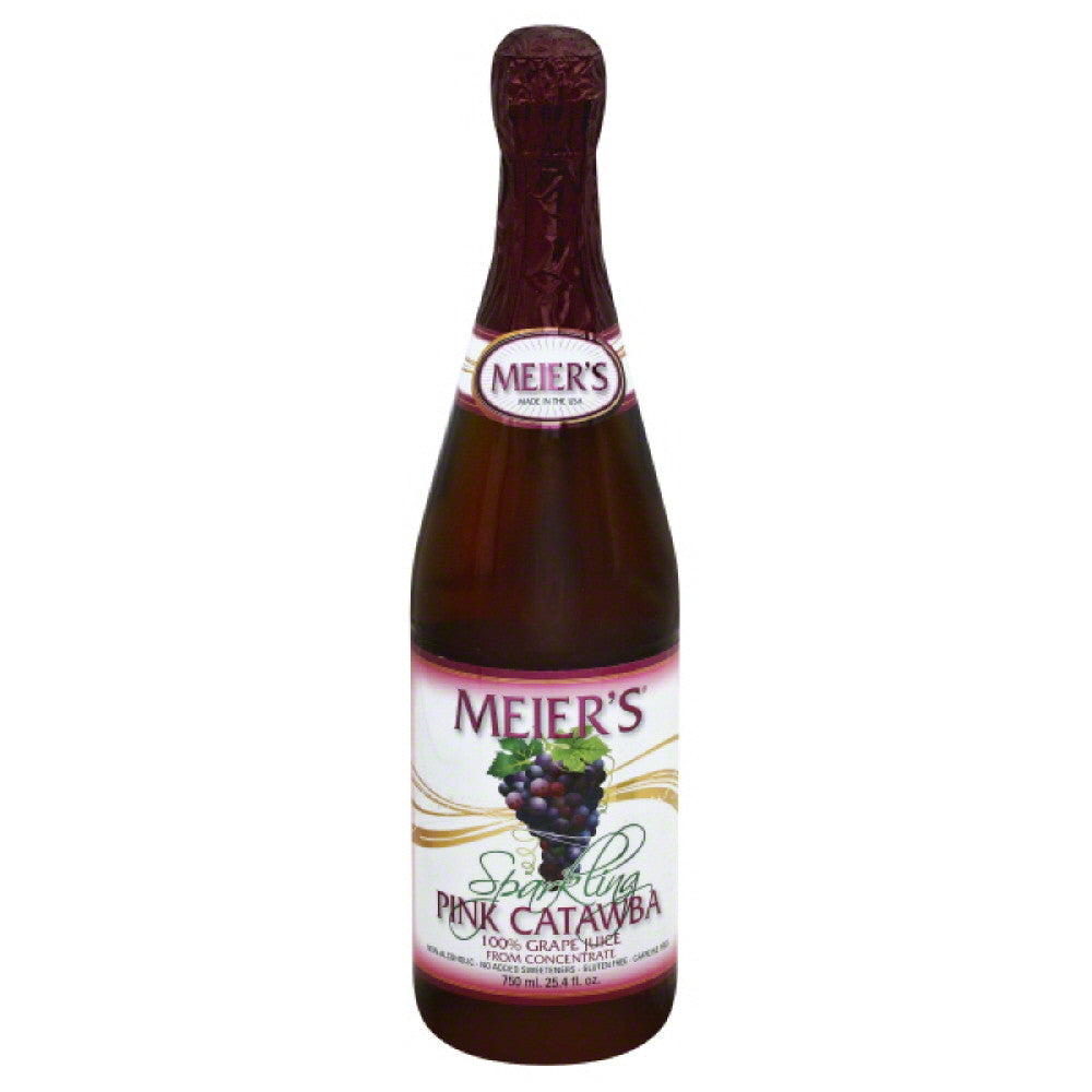 Meiers Pink Catawba Sparkling Grape 100% Juice, 25.4 Fo (Pack of 12)