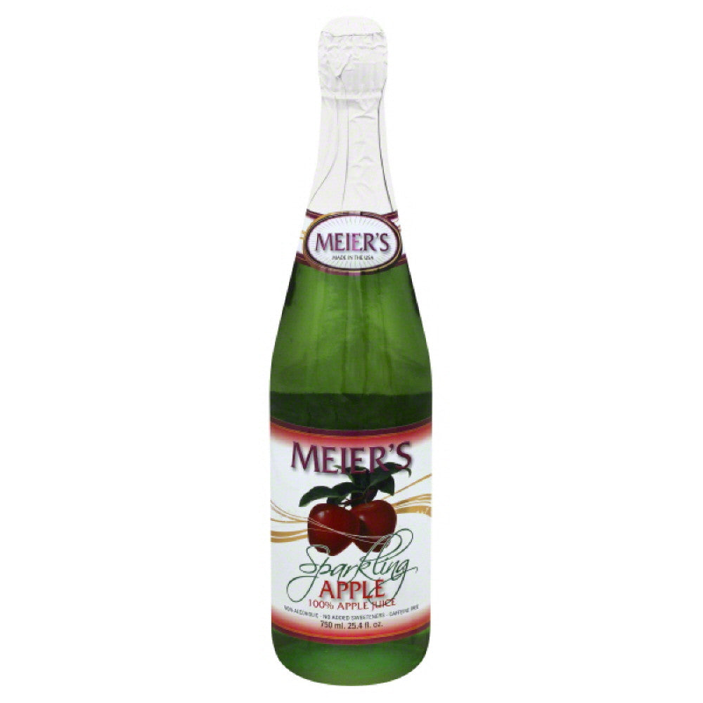 Meiers Sparkling Apple 100% Juice, 25.4 Fo (Pack of 12)
