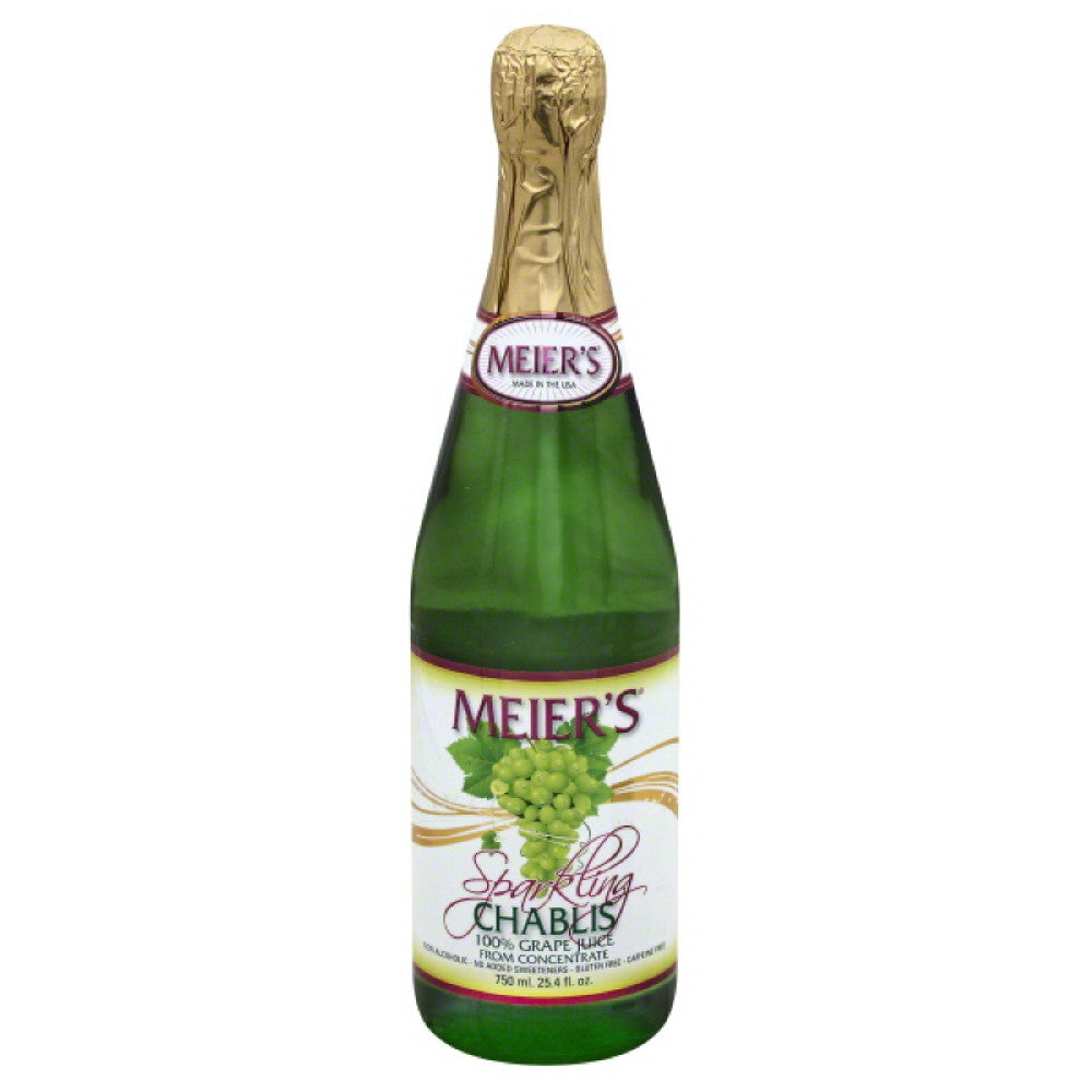 Meiers Chablis Sparkling Grape 100% Juice, 25.4 Fo (Pack of 12)