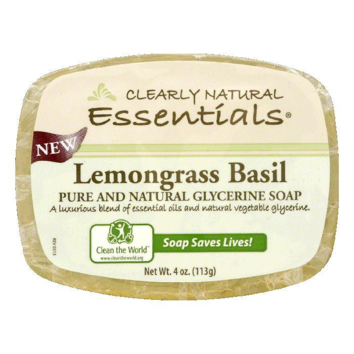 Clearly Natural Lemongrass Basil Glycerine Soap, 4 Oz