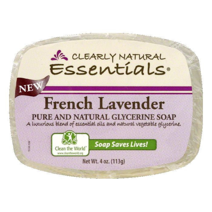 Clearly Natural French Lavender Glycerine Soap, 4 Oz