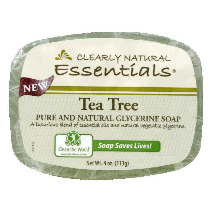 Clearly Natural Tea Tree Glycerine Soap, 4 Oz