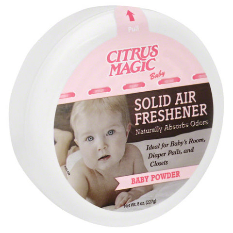 Citrus Magic Baby Powder Solid Air Freshener, 8 Oz (Pack of 6)
