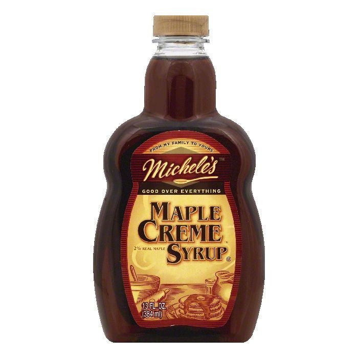 Micheles Maple Creme Syrup, 13 OZ (Pack of 12)