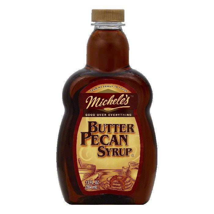 Micheles Butter Pecan Syrup, 13 OZ (Pack of 12)