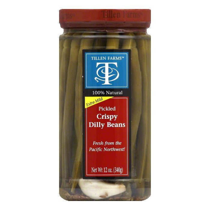 Tillen Farms Pickled Crispy Dilly Beans, 12 OZ (Pack of 6)