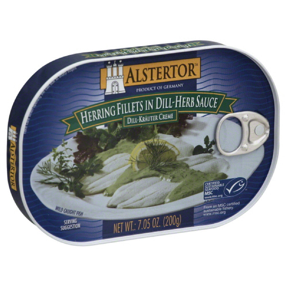 Alstertor Herring Fillets in Dill-Herb Sauce, 7.05 Oz (Pack of 10)