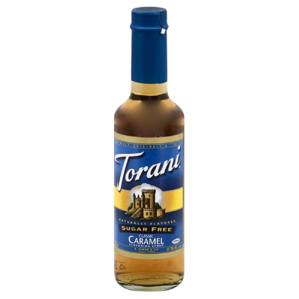 Torani Sugar Free Classic Caramel Flavoring Syrup, 12.7 Fo (Pack of 6)