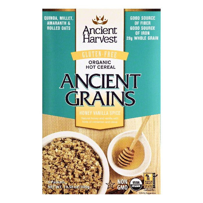 Ancient Harvest Organic Honey Vanilla Spice Hot Cereal, 6 ea (Pack of 8)