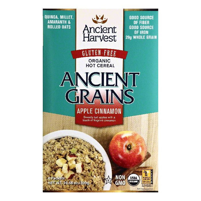 Ancient Harvest Organic Apple Cinnamon Hot Cereal, 6 ea (Pack of 8)
