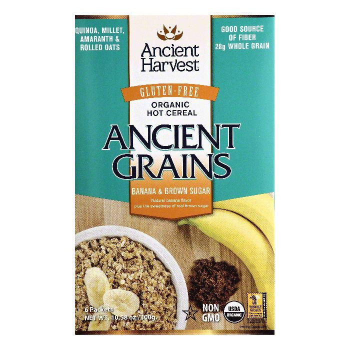 Ancient Harvest Organic Banana & Brown Sugar Hot Cereal, 6 ea (Pack of 8)