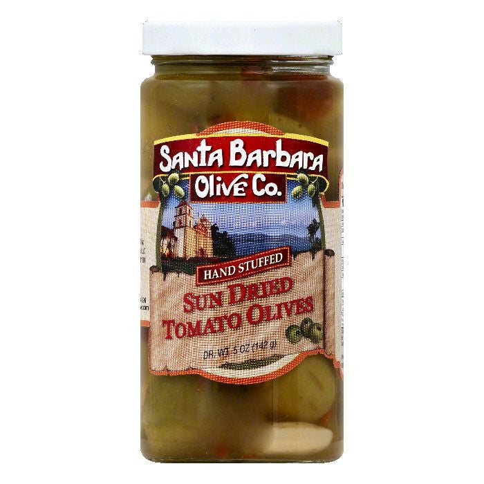 Santa Barbara Sun Dried Tomato Stuffed Olives, 5 OZ (Pack of 6)