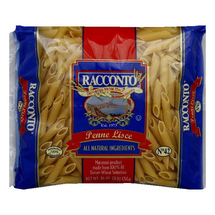 Racconto Penne Lisce, 16 OZ (Pack of 20)