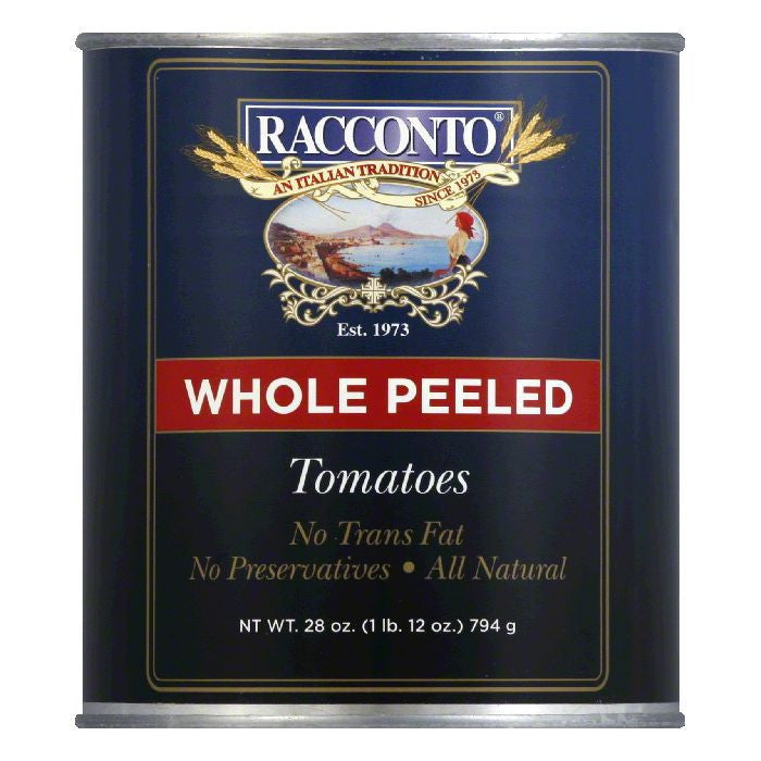 Racconto Tomatoes Whole Peeled, 28 OZ (Pack of 12)
