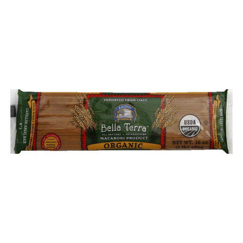 Bella Terra Pasta Capellini Angel Hair Whole Wheat Organic, 16 OZ (Pack of 12)
