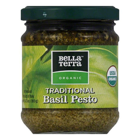 Bella Terra Organic Garlic & Basil Pesto, 6.3 OZ (Pack of 6)