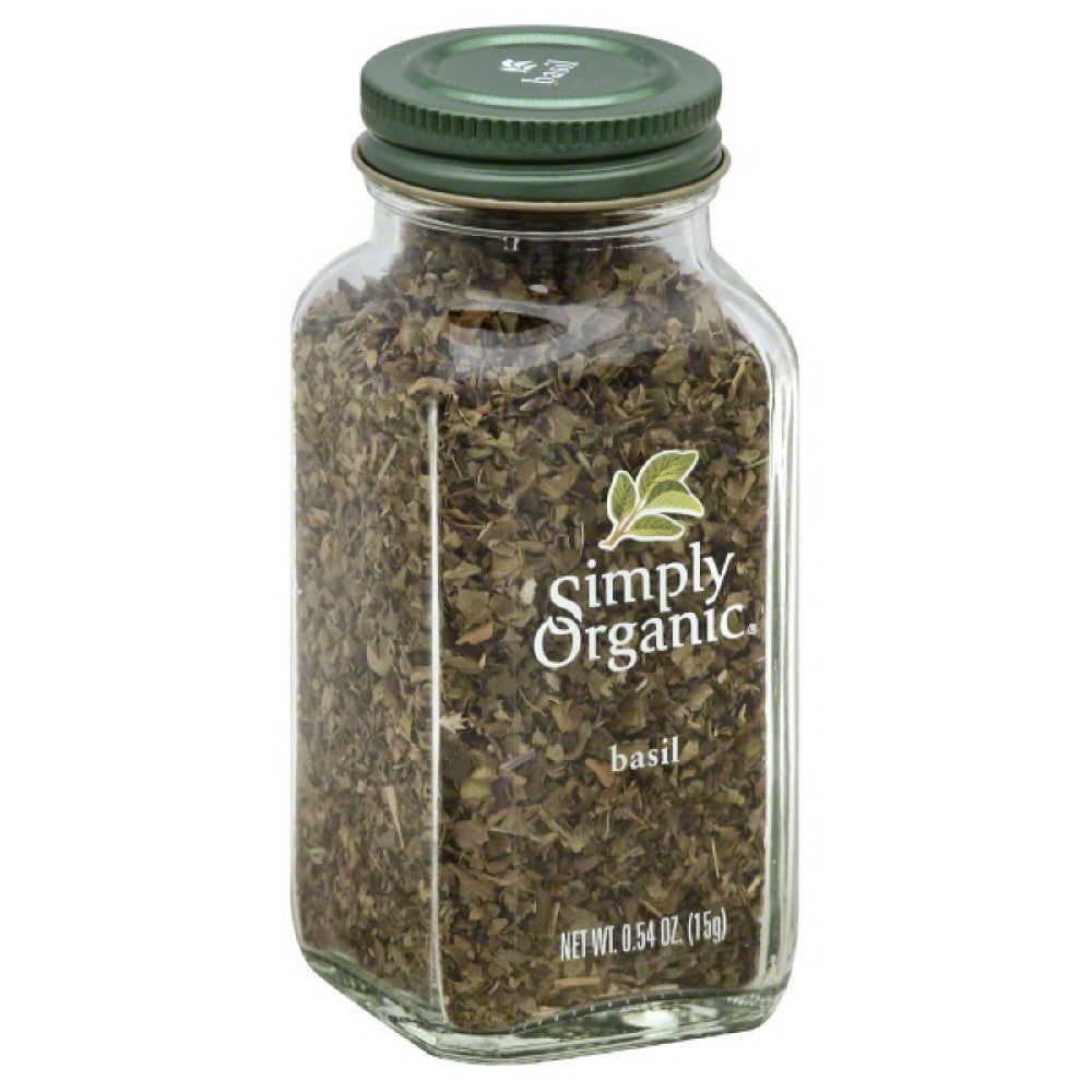 Simply Organic Basil, 0.54 Oz (Pack of 6)