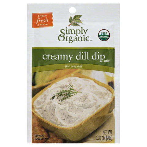 Simply Organic Creamy Dill Dip Mix, 0.7 Oz (Pack of 12)