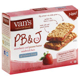 Vans PB&J Strawberry and Peanut Butter Sandwich Bars, 1.4 Oz (Pack of 6)
