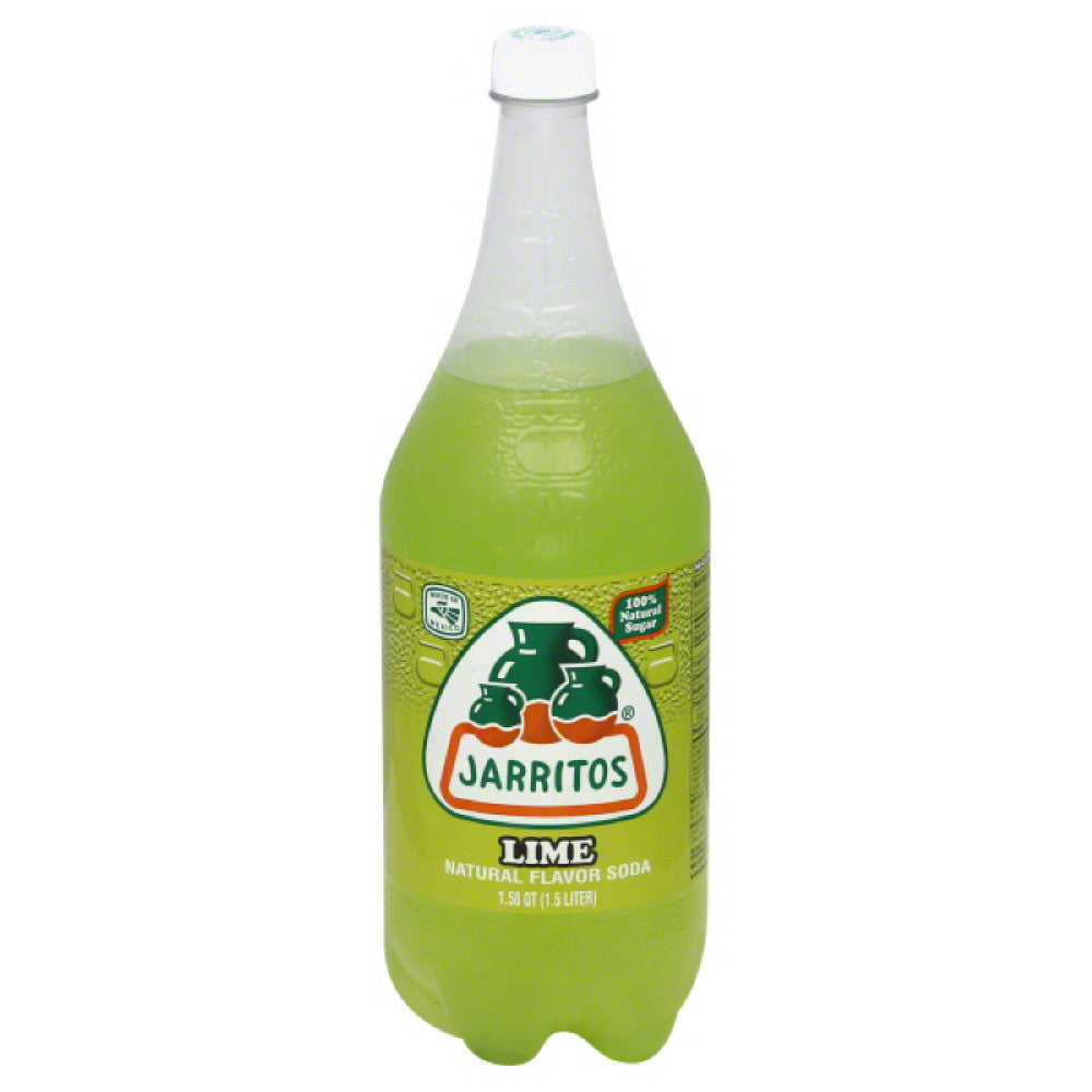 Jarritos Lime Soda, 1.5 Lt (Pack of 8)