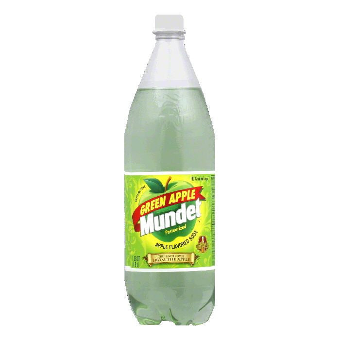 Mundet Green Apple Soda, 1.5 LT (Pack of 8)