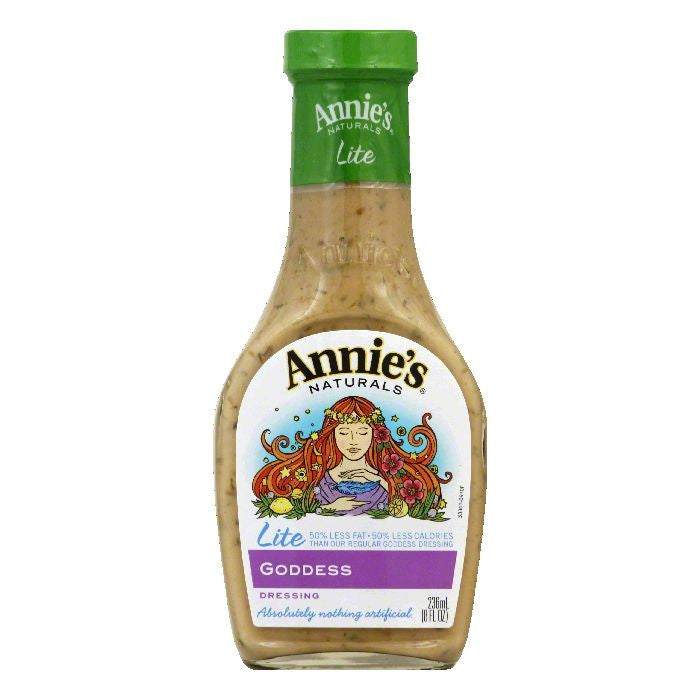 Annies Lite Goddess Dressing, 8 FO (Pack of 6)